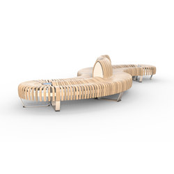 Nova C Double bench | Modular seating elements | Green Furniture Concept