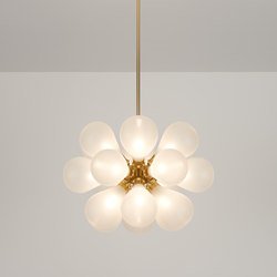 Cintola Maxi Pendant satin gold | Suspended lights | Tom Kirk Lighting