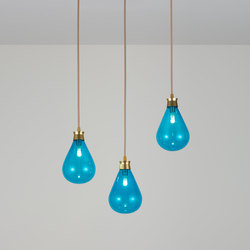 Cintola Pendant satin gold | Suspended lights | Tom Kirk Lighting