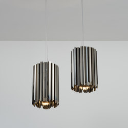 Facet Pendant polished black nickel | Suspended lights | Tom Kirk Lighting