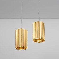 Facet Pendant polished gold | Suspended lights | Tom Kirk Lighting