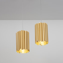 Facet Pendant satin gold | Suspended lights | Tom Kirk Lighting
