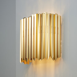 Facet Wall Light polished gold | Wall lights | Tom Kirk Lighting