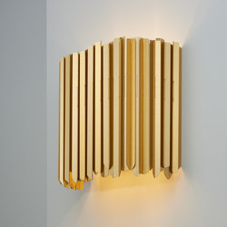 Facet Wall Light satin gold | Wall lights | Tom Kirk Lighting