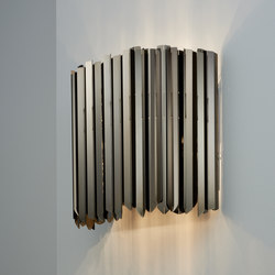Facet Wall Light polished black nickel | Wall lights | Tom Kirk Lighting
