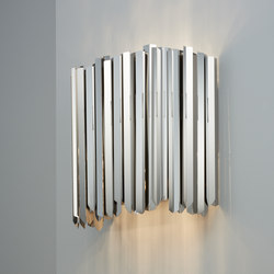 Facet Wall Light polished stainless steel | Wall lights | Tom Kirk Lighting
