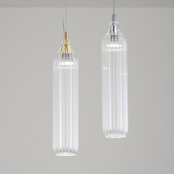 Flute Pendant clear | Suspended lights | Tom Kirk Lighting