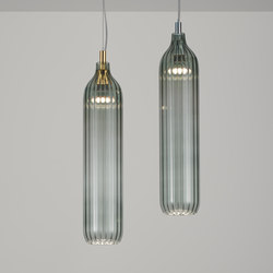 Flute Pendant smoke | Suspended lights | Tom Kirk Lighting