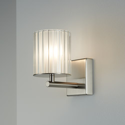 Flute Wall Light brushed nickel | General lighting | Tom Kirk Lighting