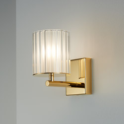 Flute Wall Light polished gold | General lighting | Tom Kirk Lighting