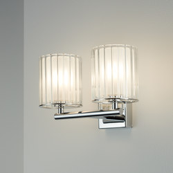 Flute Wall Light Double chrome | Wall lights | Tom Kirk Lighting