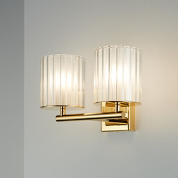 Flute Wall Light Double gold | General lighting | Tom Kirk Lighting