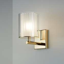 Flute Wall Light XL gold | Lámparas de pared | Tom Kirk Lighting
