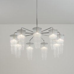 GS Chandelier polished chrome | Chandeliers | Tom Kirk Lighting