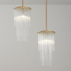 GS Pendant brushed brass | Suspended lights | Tom Kirk Lighting