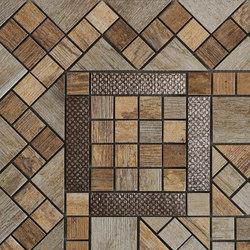 Metalwood Beige | Fascia Angolo | Mosaïques céramique | Rondine