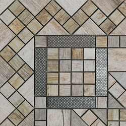 Metalwood Grey | Fascia Angolo | Mosaïques céramique | Rondine