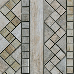 Metalwood Grey | Fascia | Mosaïques céramique | Rondine