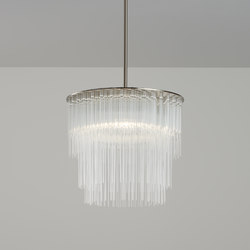 GS Pendant 300 brushed nickel | Kronleuchter | Tom Kirk Lighting
