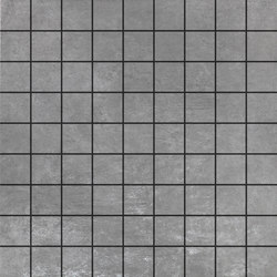 Metropolis Argento | Mosaico | Mosaici ceramica | Rondine