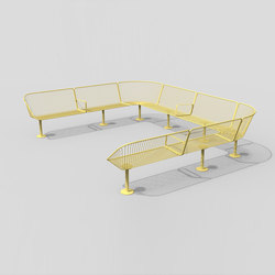 Korg modular backed bench | Bancs publics | nola