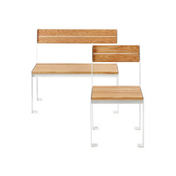 LowHigh bench and chair | Sedie | nola
