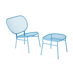 Wimbledon side chair and foot stool | Chairs | nola