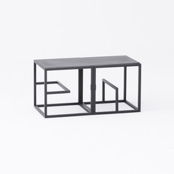 Text Block Metal Black Double Set | Shelving | tre product