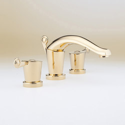Bagatelle | Rim mounted 3-hole basin mixer | Wash basin taps | THG Paris