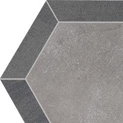 Stoneone | Silver Esagono | Baldosas de cerámica | Marca Corona