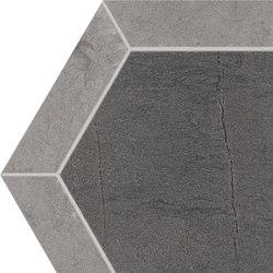 Stoneone | Dark Esagono | Ceramic tiles | Marca Corona