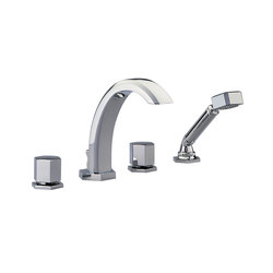 Beverley | Rim mounted 4-hole bath/shower mixer | Grifería para bañeras | THG
