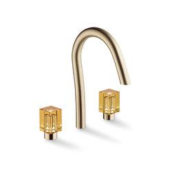 Beyond Crystal   Rim mounted 3-hole basin mixer   Wash basin taps   THG Paris