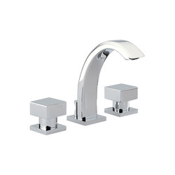 Cubica | Rim mounted 3-hole basin mixer | Wash basin taps | THG Paris