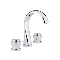 Diplomate | Rim mounted 3-hole basin mixer | Wash basin taps | THG Paris
