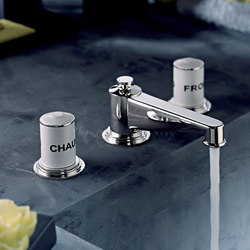 Faubourg | Rim mounted 3-hole basin mixer | Wash basin taps | THG Paris