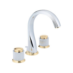 Jaipur | Rim mounted 3-hole basin mixer | Wash basin taps | THG Paris