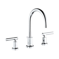 Les Ondes | Rim mounted 3-hole basin mixer | Wash basin taps | THG Paris