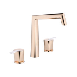 Métamorphose | Rim mounted 3-hole basin mixer | Wash basin taps | THG Paris