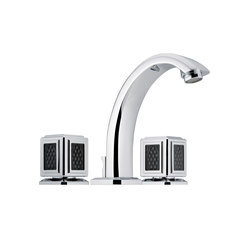 Metropolis | Rim mounted 3-hole basin mixer | Wash basin taps | THG Paris