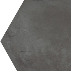 Terra | Nero Esagona | Piastrelle ceramica | Marca Corona