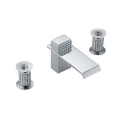 Perle | Rim mounted 3-hole basin mixer | Grifería para lavabos | THG Paris