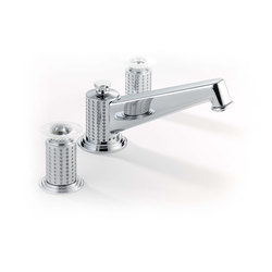 Perle | Rim mounted 3-hole basin mixer, high spout | Grifería para lavabos | THG Paris