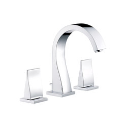 Pure | Rim mounted 3-hole basin mixer | Wash basin taps | THG Paris