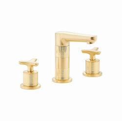 System | Rim mounted 3-hole basin mixer | Wash basin taps | THG Paris