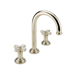 West Coast | Rim mounted 3-hole basin mixer | Grifería para lavabos | THG Paris