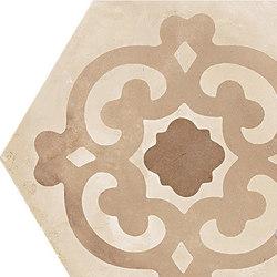 Terra | Fiore Vers.C | Piastrelle ceramica | Marca Corona