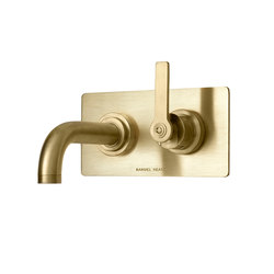 LMK Pure Wall Mounted Lavatory Mixer - Urban Brass | Bath taps | Samuel Heath