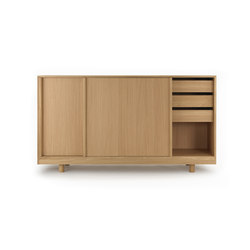 Sideboard with Sliding Doors Natural Oak | Credenze | Bautier