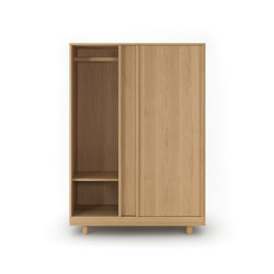 Wardrobe with Sliding Doors Natural Oak | Armadi | Bautier